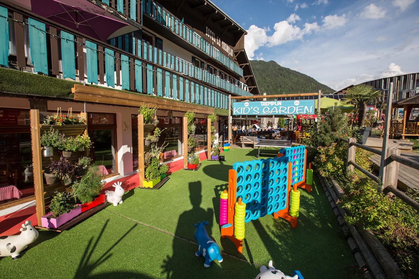 hotel tremplin morzine kids garden