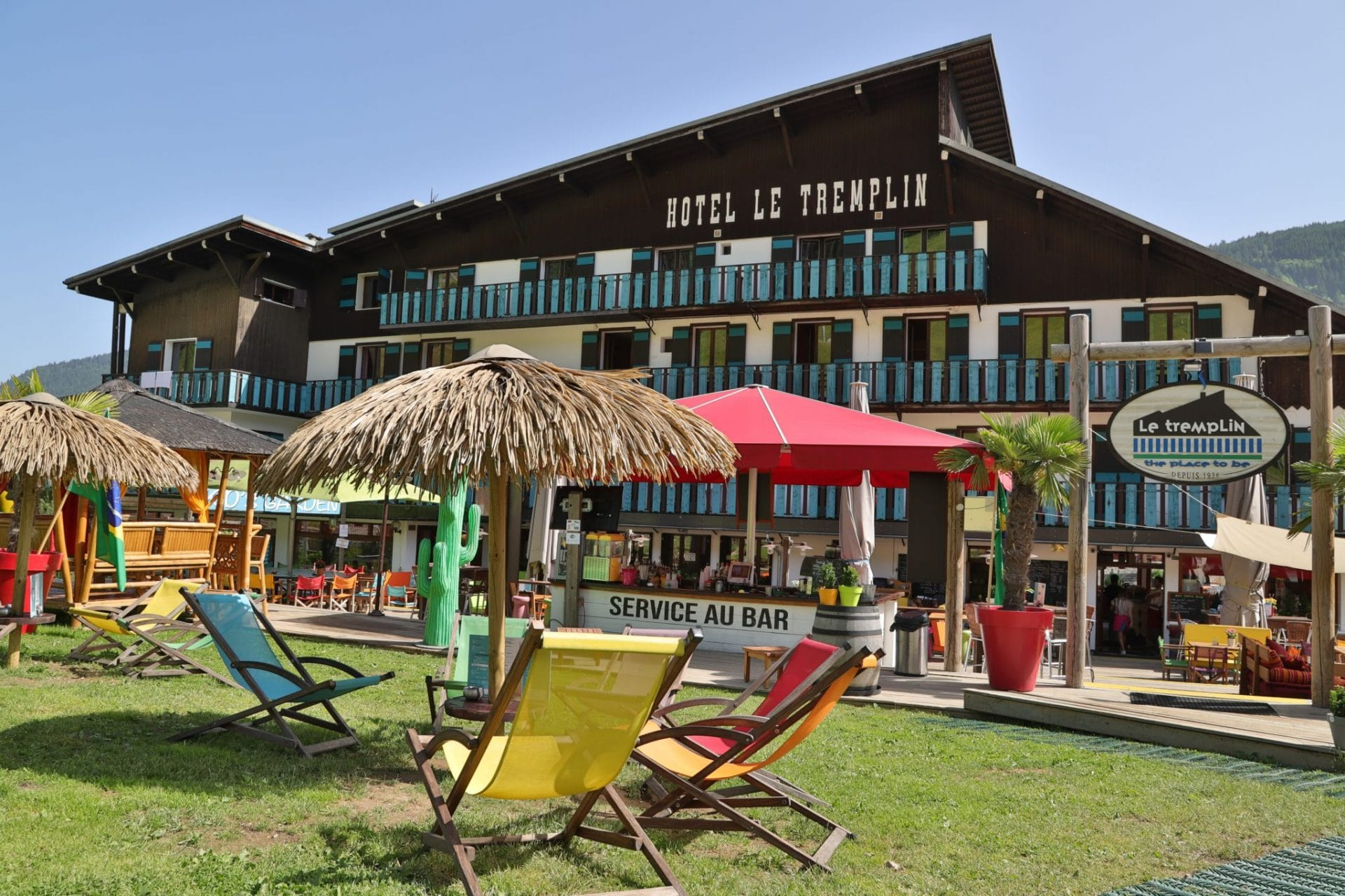 Hotel Tremplin Morzine ete terrasse relax chill
